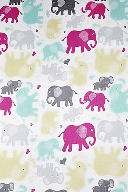 Słonie żółto miętowe