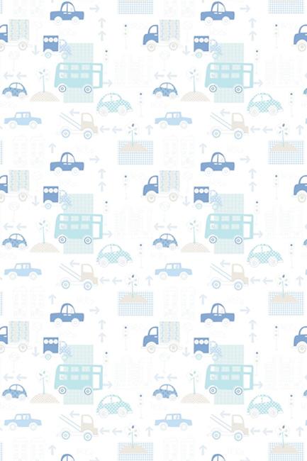 Drobne niebieskie samochodziki