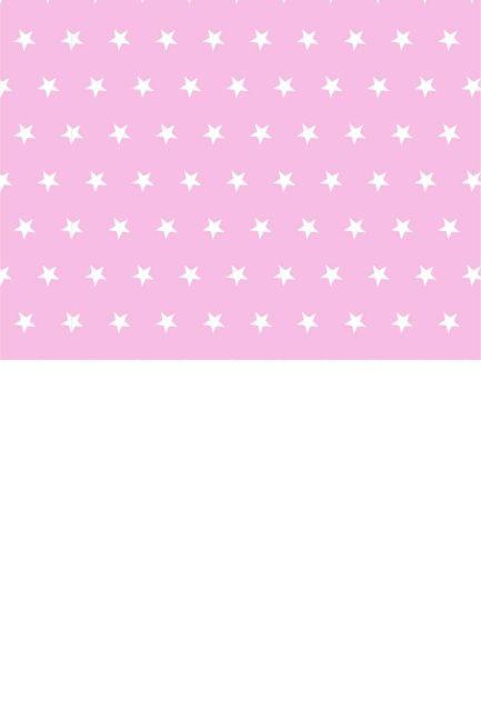 Gwiazdki białe na różu mix biały