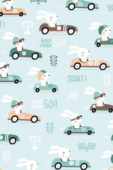 Króliki w samochodach seledyn