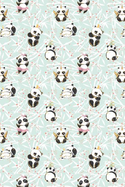 Panda na mięcie