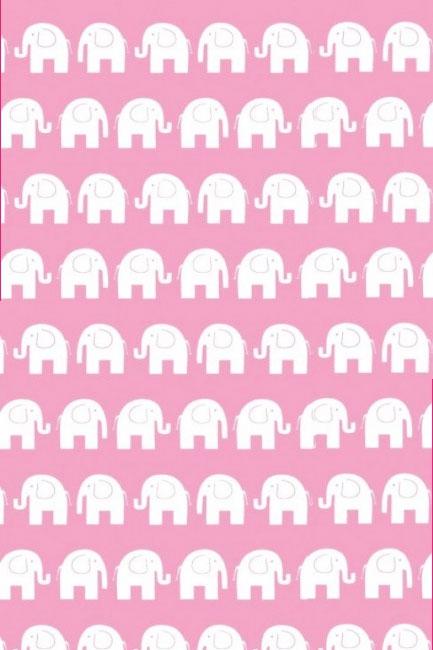Słoniki białe na różowym