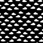 Chmurki białe na czarnym