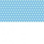 Groszki białe na niebieskim MIX biały