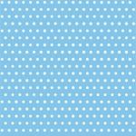 Groszki białe na niebieskim
