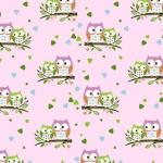 Sowy małe różowe