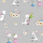 Zakochane króliczki na szarym
