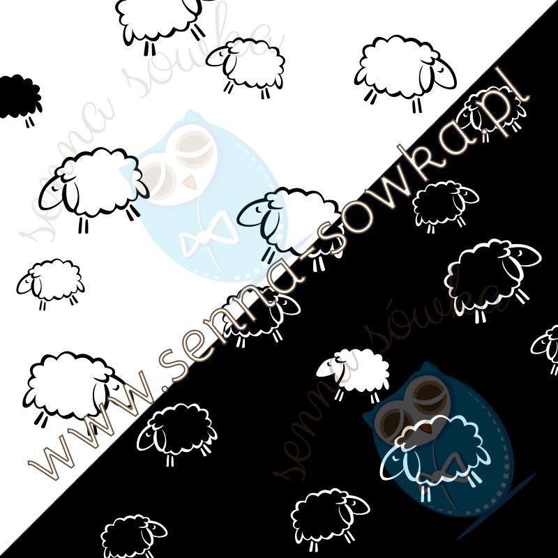 pościel dziecięca owieczki biały czarn