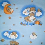 pościel dziecięca niebieskie misie na drabince