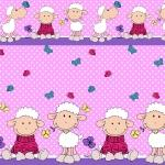 pościel dziecięca owieczka różowa