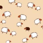 Owieczki beżowe