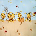 pościel dziecięca pszczółki niebieskie