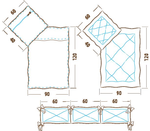 Komplet pościeli 120×90 – 5 elementowy (ochraniacz 180cm)