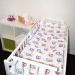 pościel dziecięca i ochraniacz do łóżeczka