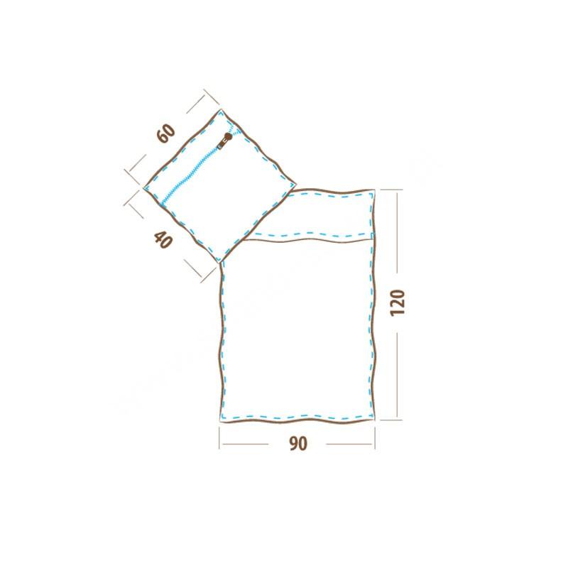 Pościel dziecięca flanelowa 90x120