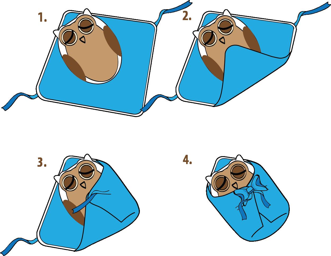 instrukcja zapinania różka niemowlęcego