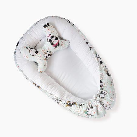 kokon dla niemowlaka mięta pandy